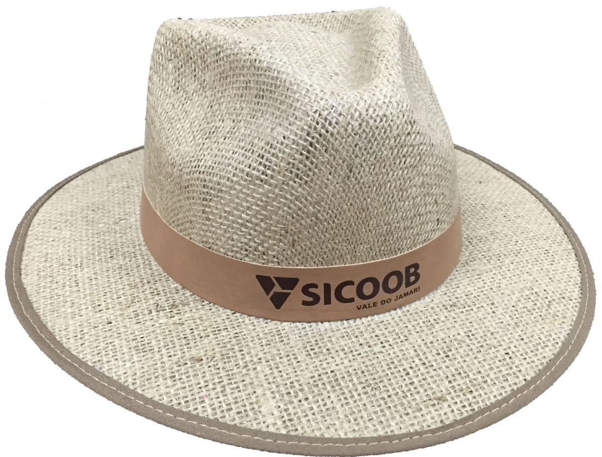 45fa86c6ab216 Chapéu de Juta com Forro na Aba EC493recouro