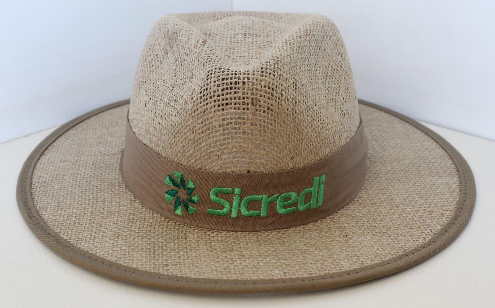Chapéu de Juta Australiano sem forro com Viés 1053  90a04c57270
