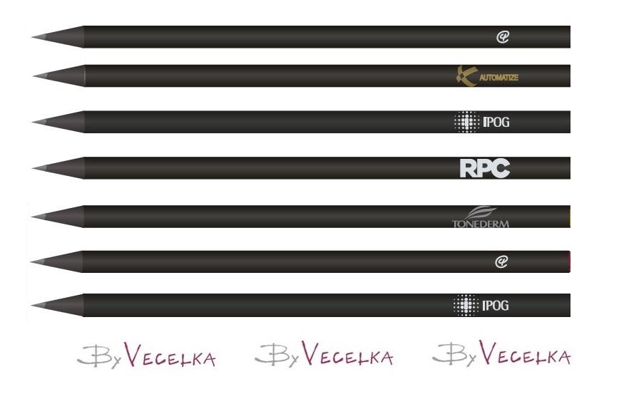 cc30d01ee Lápis Personalizados Sem Borracha Madeira Preta